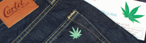 premium denim jeans - cartel blue